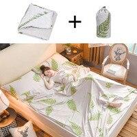 Cotton Envelope Type Sleeping Bag Outdoor Travel Trip Hotel Camping Hiking Single Double Healthy Sleeping Bag