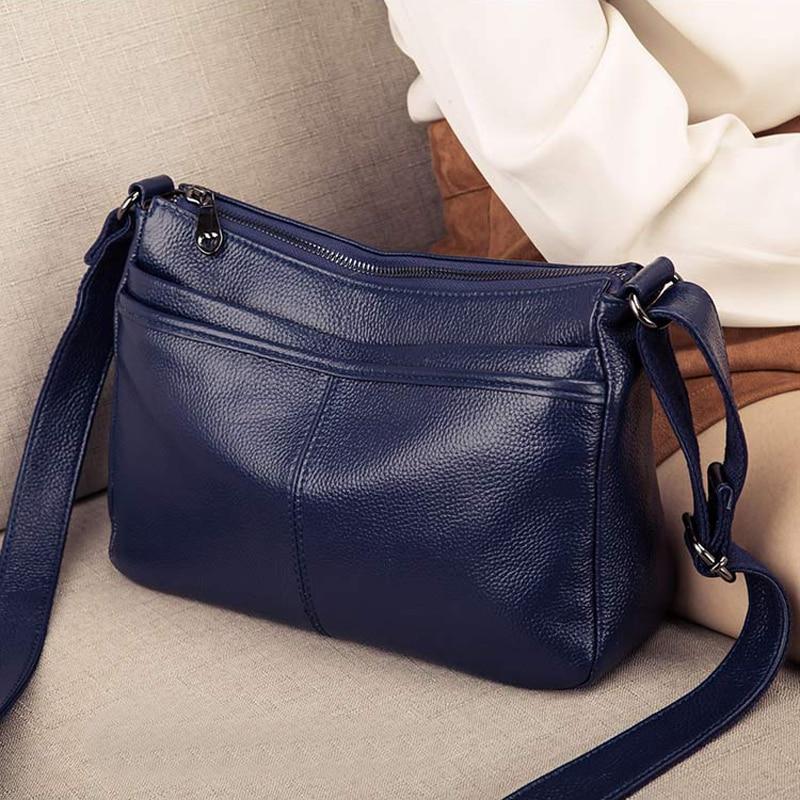 ของแท้หนัง Crossbody กระเป๋าสำหรับผู้หญิงกระเป๋าถือแฟชั่นสุภาพสตรี Totes กระเป๋าไหล่หญิงกระเป๋า Messenger กระเป๋า-ใน กระเป๋าสะพายไหล่ จาก สัมภาระและกระเป๋า บน   1