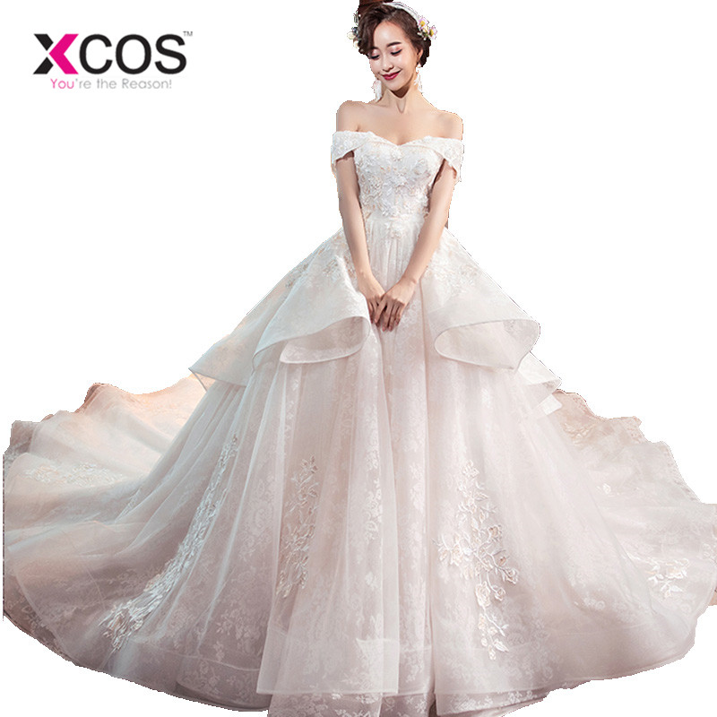 Aliexpress.com : Buy XCOS Champagne Ball Gown Bridal Dress