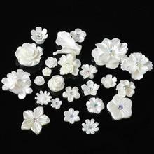 20 шт./лот, полимерный цветок, кнопки, сделай сам, аксессуары для ювелирных изделий, металлические пуговицы для украшения, свадебные сумки, одежда, декоративные пуговицы
