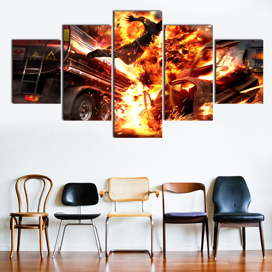 landscaping flyers reviews online shopping landscaping flyers unframed 5pcs hd abstract explosion flyers canvas printing painting modern home living room wall decoration pictures