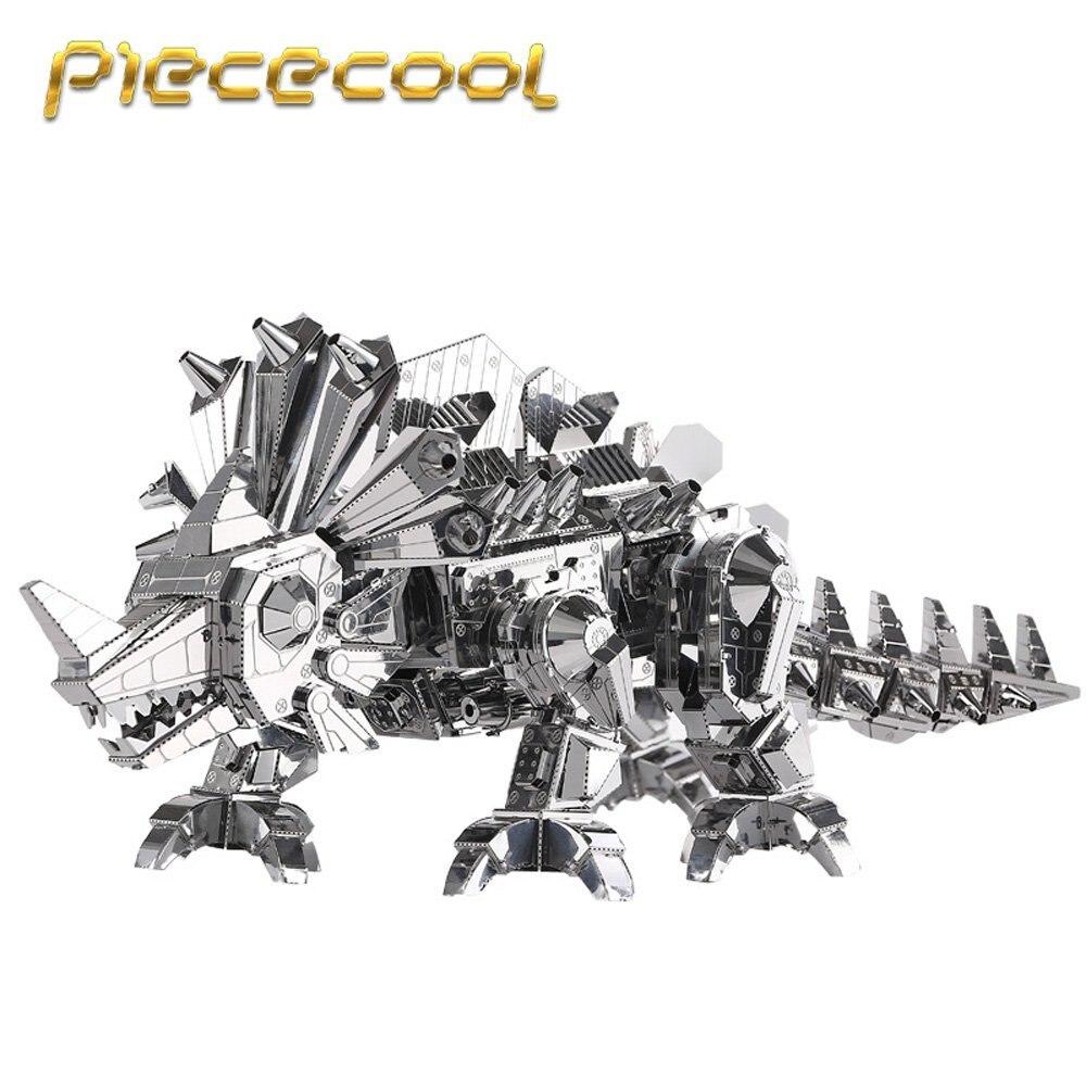 Piececool 2016 Date 3D Casse-Tête En Métal de Dinosaure Rock Argent Couleur 3D Assembler Modèle Kits DIY Drôle Cadeaux pour Enfants IQ Jouets