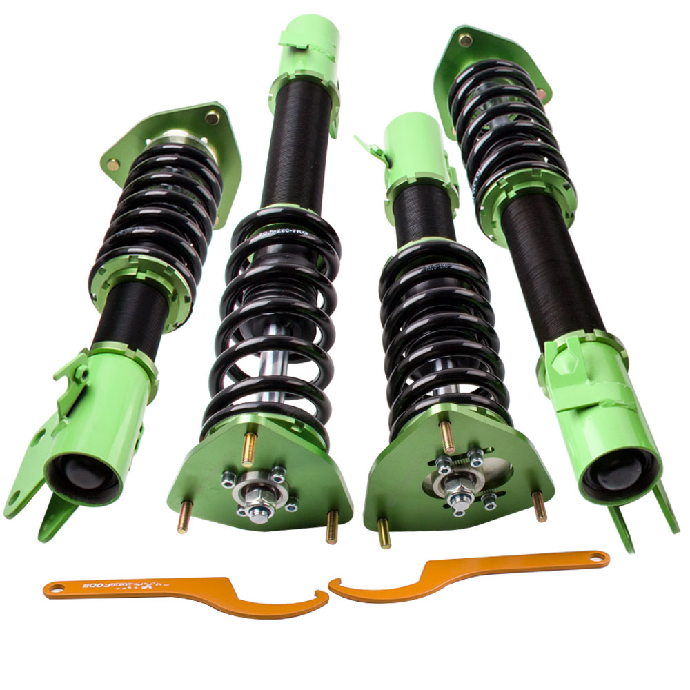 maXpeedingrods Coilover Kit de Amortiguador Suspensi/ón Verde