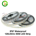 120 LEDs/m Double Row LED Strip 5050 IP67 Waterproof DC12V Silicone Tube flexible tape rope stripe neon light  5m/lot