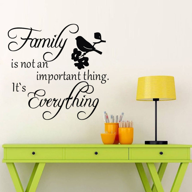 family is not an important thing it's everything wall decals vinyl