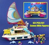 NOUVEAU Amis Soleil Catamaran Dauphins Olivia Stephanie fit legoings amis figures modèle Building Block briques 41317 enfant fille