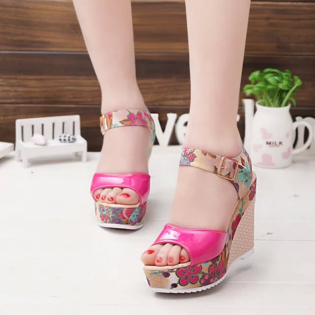 2019 Women Sandals Summer Platform Wedges Casual Shoes Woman Floral Super High Heels Open Toe Slippers 2019 Women Sandals Summer Platform Wedges Casual Shoes Woman Floral Super High Heels Open Toe Slippers Sandalias Zapatos Mujer