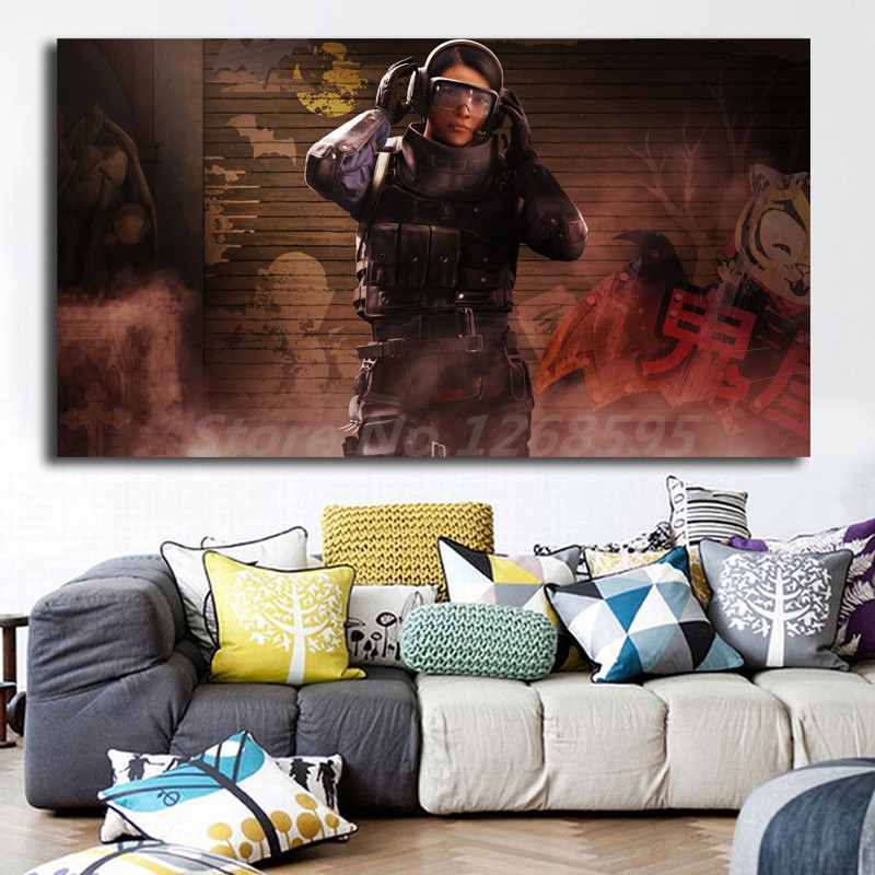 Ying Operatore Tom Clancys Rainbow Six Assedio Hd Carta Da Parati Arte della Tela di Canapa Della Parete Pittura Poster Picture Stampa Camera Da Letto A Casa Decorazione