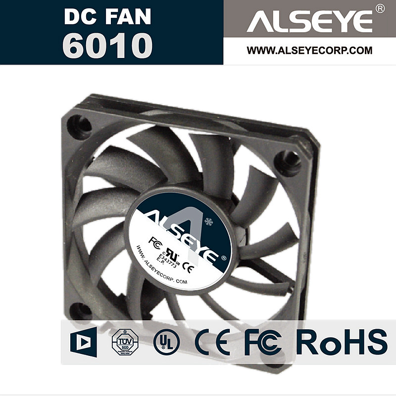 ALSEYE <font><b>6010</b></font> DC Cooling <font><b>Fan</b></font> 12v 0.15A 2400RPM 60mm <font><b>Fan</b></font> Radiator for Electrical Maintenance and Computer image