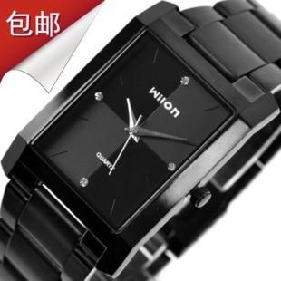 Fashion Brand Luxury Steel Wristwatches Wilon Suare Quartz Men's Clocks Women Diamond Business Lover Couple Business Dress Watch