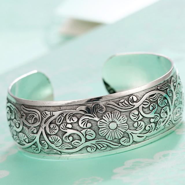 Ethnic Silver Plated Bracelet
