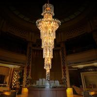 Cristal Upscale K9 Crystal Chandelier Large Led Modern Chandeliers Lighting Luxury Lustres Dining Room Living Room