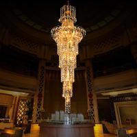 Cristal Upscale K9 Crystal Chandelier Large Led Modern Chandeliers Lighting Luxury Lustres Dining Room Living Room