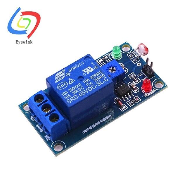 5pcs 5V/12v Light Photoswitch Sensor Switch LDR Photoresistor Relay ...