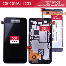 100 Tested Original Black TFT 854x480 Display For NOKIA Lumia 530 LCD Touch Screen with Frame