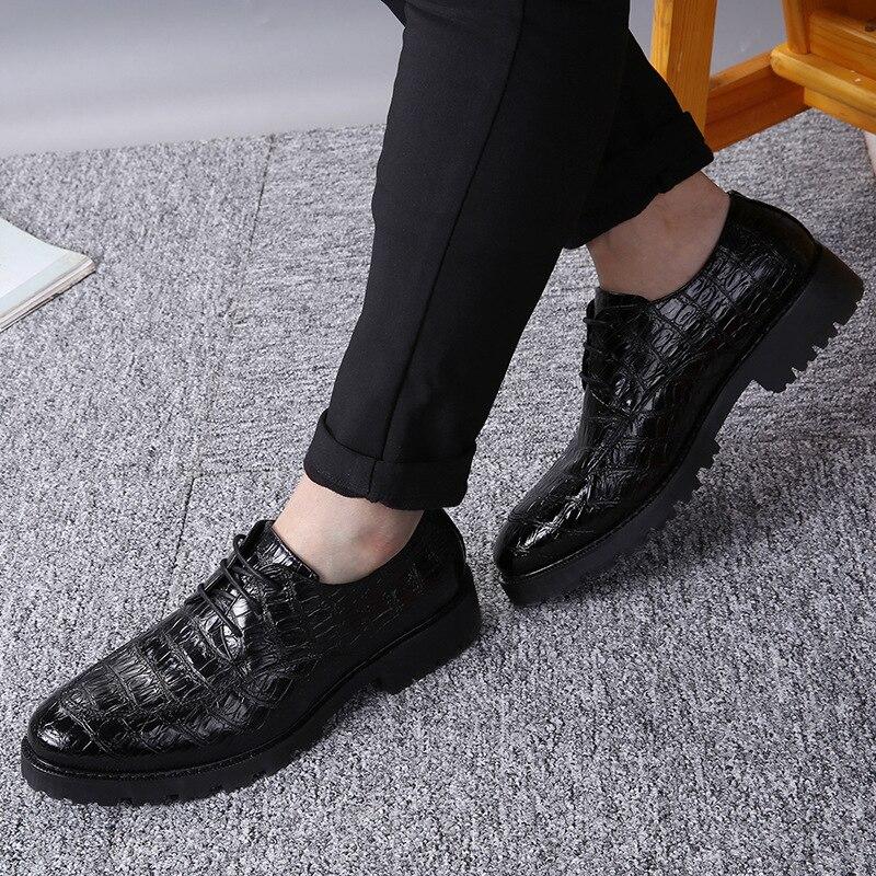 Mode En DesignerMpx8116181 Printemps Cuir Haute Hommes Marque Qualité De Noir Confortable Chaussures 2IW9eHYDE