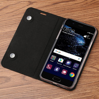 Litchi texture thin mobile phone case for xiaomi max 3 Genuine leather flip phone case All handmade custom protective case