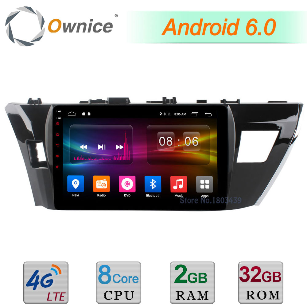 C500+ 10.1 Android 6.0 Octa Core 2GB RAM 32GB ROM 4G WIFI DAB+ Car DVD Multimedia Player Radio GPS For Toyota Corolla 2014 2015