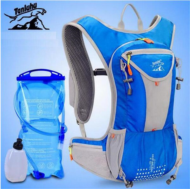 TANLUHU  Men Women 12L Trail Running Backpack Outdoor Sport Hiking Racing Bag With Optional 2L Hydration Water Bag