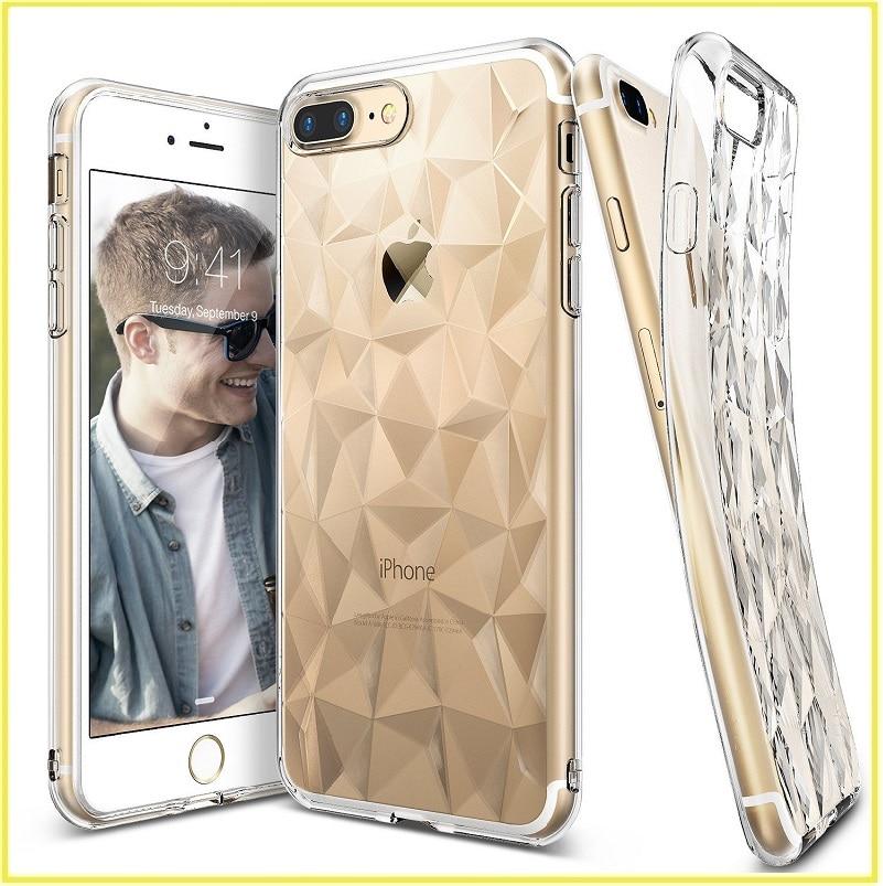 imágenes para Para iphone 7 plus casos original ringke aire prisma 3d contemporáneo diseño delgado tpu flexible gota protección coque para iphone 7