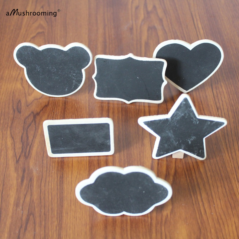 customize mini chalkboard lettering wood board rustic blackboard tags table number candy buffet sign wedding party holiday decor in party diy decorations