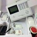 Часы с ЖК-дисплеем Беспроводная GSM + PSTN система охранной сигнализации приложение дистанционное управление