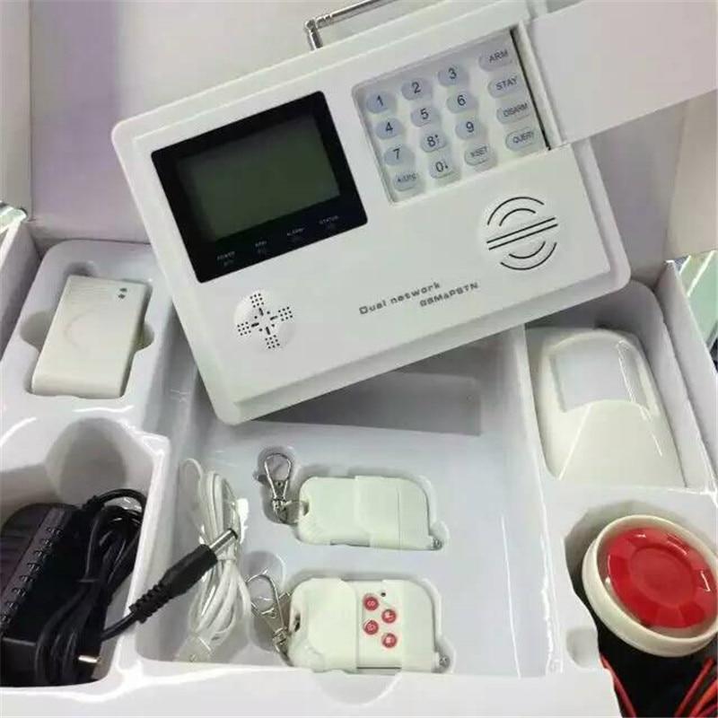 LCD Clock Display Wireless GSM+PSTN burglar alarm system APP Remote Control free dhl 868mhz wireless pstn wireless alarm system gsm network smart app gsm pstn alarm gsm alarm system 868mhz
