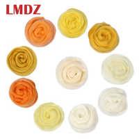 LMDZ 1pcs 100g Yellow Color Wool Fibre Roving For Needle Felting Handcraft DIY Spinning Fiber Needlework Felting Material