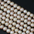 Natural orange pearl  round freshwater 9-10mm hot sale factory price wholesale retail elegant loose beads 15inch B1396