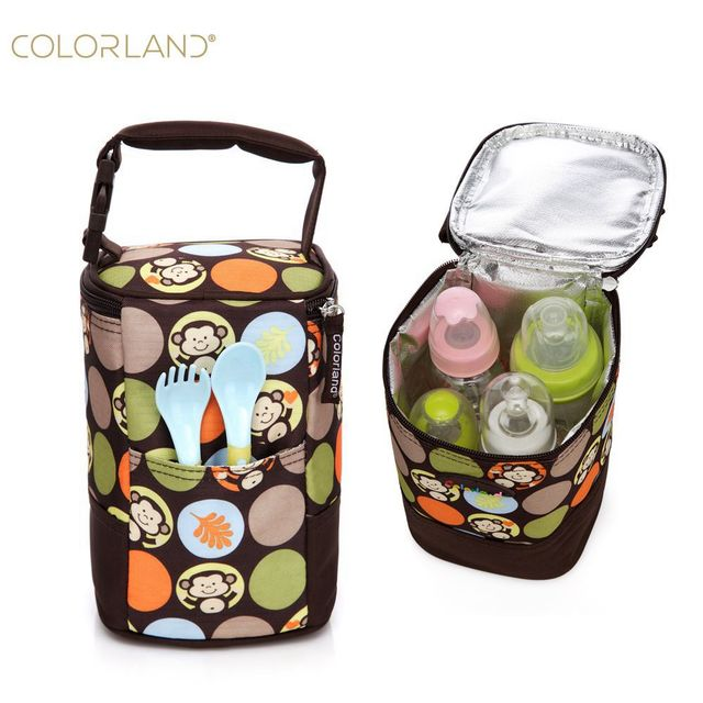 Colorland T Milk Storage Insulation Bag Baby Bottle Heater Mom Bags Mother Mummy Maternity Handbag