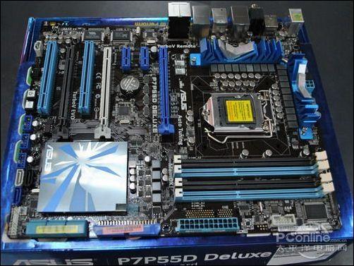 Deluxe 1156 pin P55 P7P55D motherboard fonte de alimentação uma fase 19 usado 90% novo