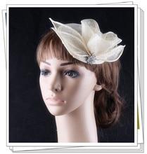 17 colors fashion sinamay material fascinator headwear wedding headpiece show font b hat b font suit