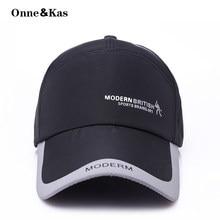 Onne Kas Sports Cap Mens Hat For Fish Outdoor Fashion Line Baseball Cap  Long Visor Brim Shade Snapback Sun Hat Bone Gorras 9c053f937024