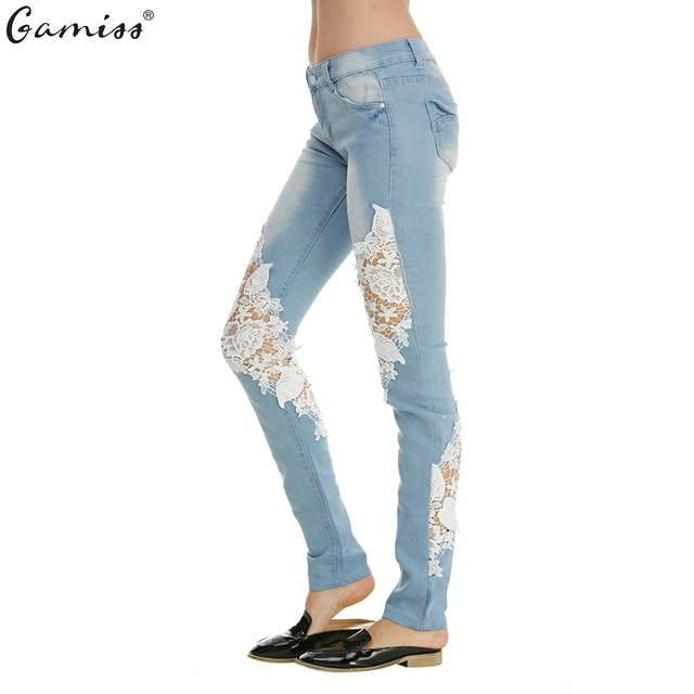 Aliexpress.com : Buy Gamiss Light color low waist jeans side ...