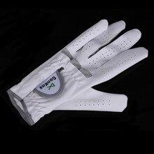 1 шт. дышащие перчатки для гольфа мужские для левой руки супер тонкая ткань мягкий белый Размер 22#-26# аксессуары для гольфа MJ