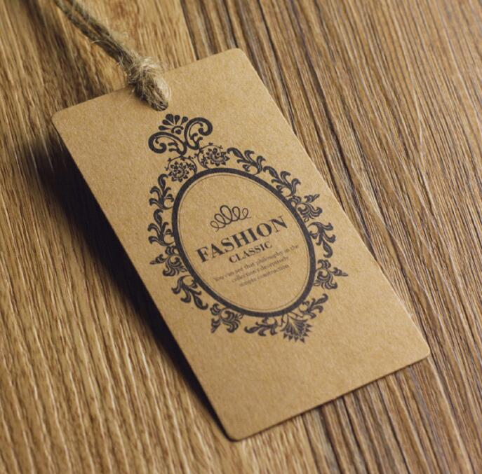 Customized Die Cut Gold Foil Stamping Hang Tags For