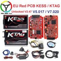 Online V2.47 Master EU Red Kess V5.017 Kess V2 V2.23 No Token Ktag V7.020 4 LED OBD2 Manager Tuning Kit K TAG 7.020 ECU Tools