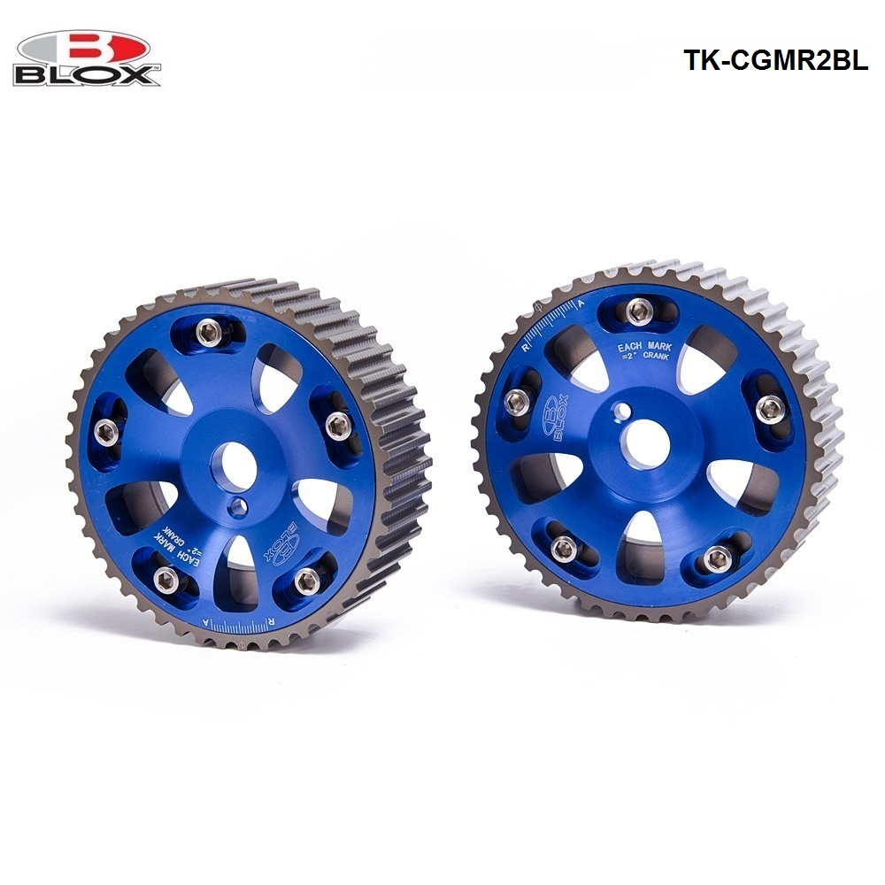 For Toyota Celica/MR2/3S-GTE Upgrade Adjustable Jdm 2Pcs Aluminium Camshaft Cam Gear Blue TK-CGMR2BL