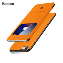 BASEUS Kulit Phone Case untuk iPhone 6 6 S Plus Fashion Muda Colorful Smart Flip Cover untuk iPhone 6 plus 6 S Plus Coque Fundas(China)