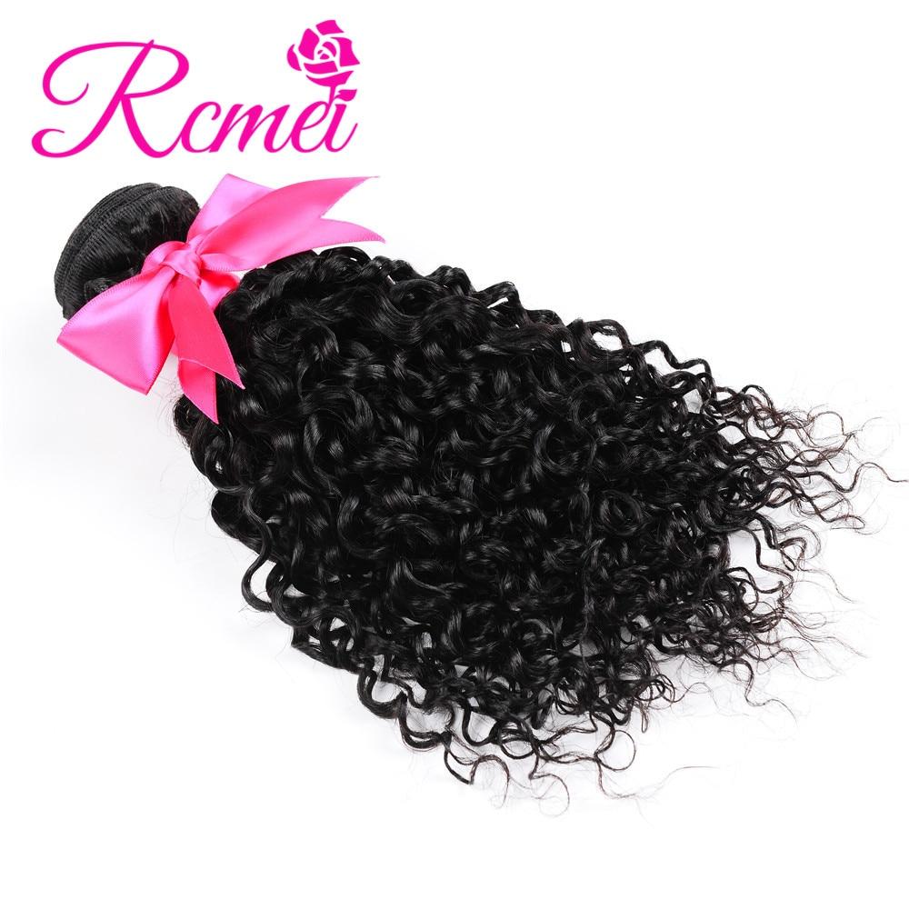 Rcmei волос бразильский странный вьющиеся волосы человека 100% не Волосы remy ткань 4bundles/LOT натуральный черный 8 -28 бесплатная доставка
