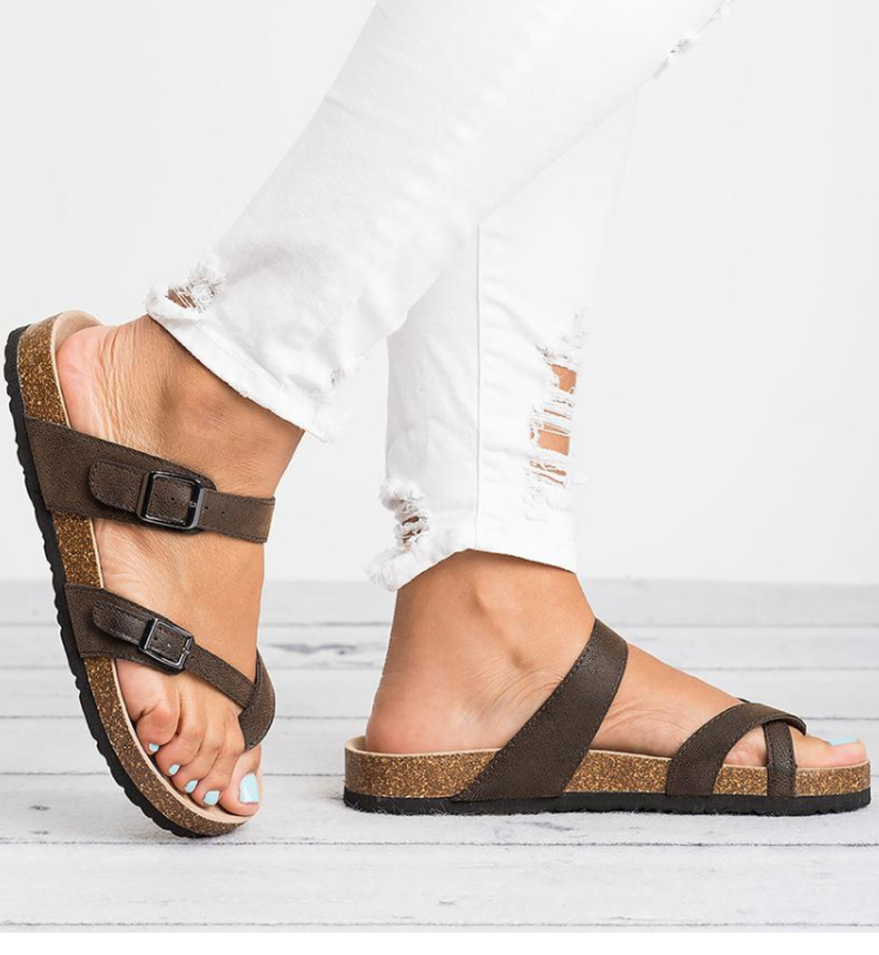 HTB13Vv4NSzqK1RjSZFLq6An2XXay Women Sandals Rome Style Summer Sandals For 2019 Flip Flops Plus Size 35-43 Flat Sandals Beach Summer Zapatos Mujer Casual Shoes