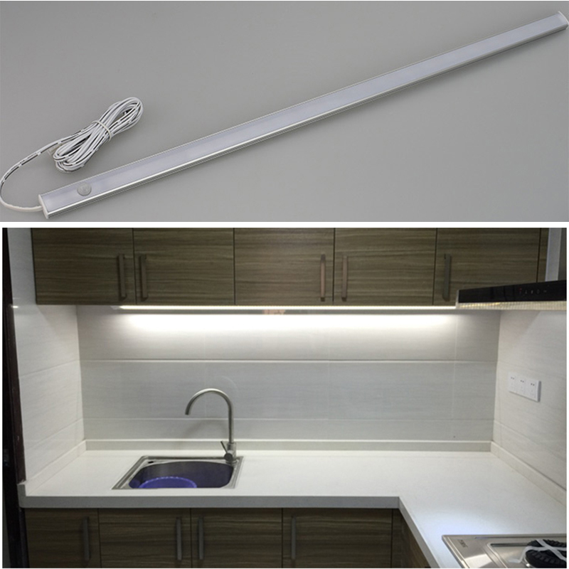 LED Motion Sensor Under Cabinet Light 12V LEDs Strip Kitchen Lights Bedroom Lamp In The Closet Wardrobe Lamps Cupboard Lighting