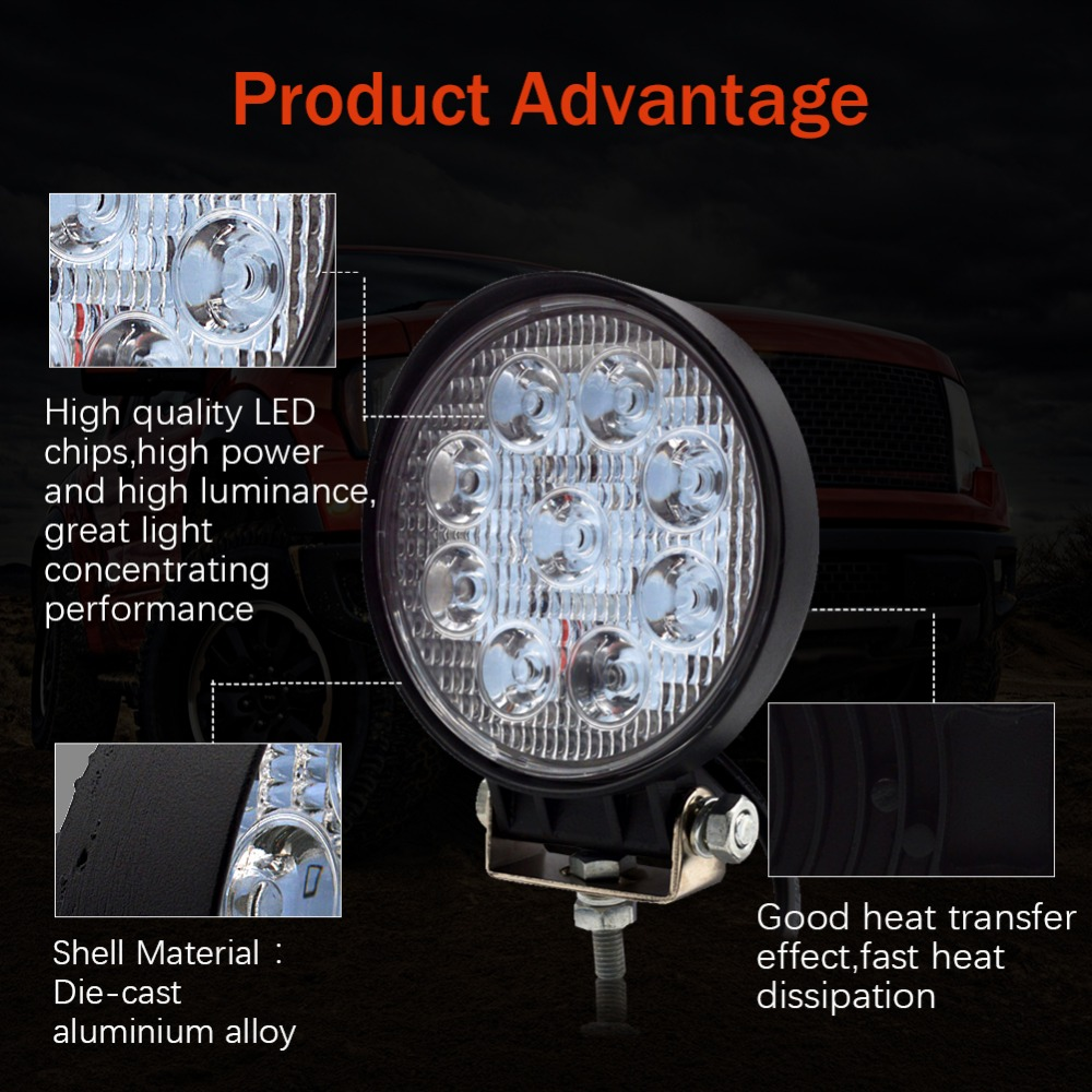 Image 3 - Safego 4 Inch 27W LED Work Light Flood Fog offroad ATV 4x4 Driving Lamp 12V for Motorcycle Tractor Truck Trailer SUV Boat 4WD-in Light Bar/Work Light from Automobiles & Motorcycles