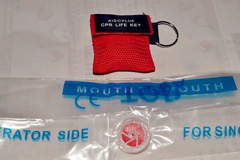 200 шт. Первая помощь инструмент брелок дыхание маска КПП ЛИЦА ЩИТ дыхание маска для аптечка