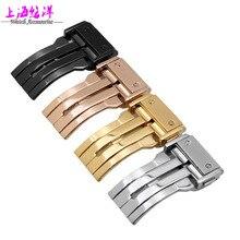Reloj Dai Yongyu correa de reloj hebilla importado de acero inoxidable hebilla desplegable y negro oro rosa