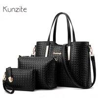 Luxury Women Designer Handbags High Quality Brand Ladies Plaid Shoulder Messenger Clutches Bags Set Sac A