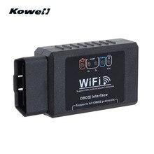 KOWELL супер Wi-Fi ELM327 OBDII автоматический Умный интеллектуальный диагностический интерфейс сканер кода считыватель OBD2 OBD 2 сканирующие инструменты+ CD