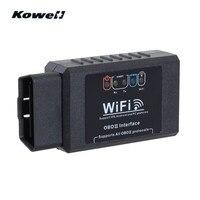 Kowell Super Wi-Fi ELM327 OBDII Авто Смарт Интеллектуальные Диагностический Интерфейс сканер штрихкодов читатель OBD2 OBD 2 сканирования Инструменты + CD