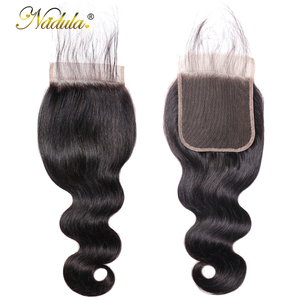Image 4 - Nadula ヘア 5*5 実体波レースクロージャー無料パートの Remy 人間の毛髪ナチュラルカラーブラジルの髪の閉鎖ベビーヘアー