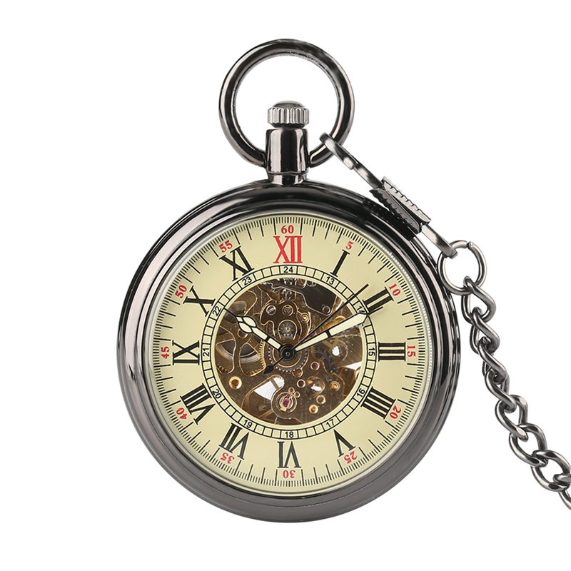 Open Face Self Silver Vintage Pocket Watch Automatic Mechanical Pocket Watches Women Relogio De Bolso Gifts For Men Women